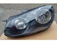 Volkswagen Golf Mk6 (2009 - 2013) Headlight - Genuine VW - Passenger Nearside