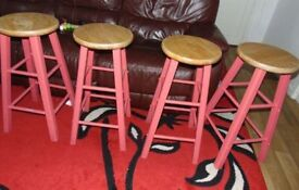 four matching bar stools / breakfast bar stools