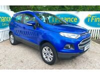 CAN'T GET CREDIT? CALL US! Ford EcoSport 1.0 T Zetec EcoBoost, 2015 - £200 DEPOSIT, £59 PER WEEK
