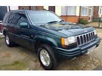 Jeep Grand Cherokee 4.0 Limited LPG conversion 1997 Long MOT