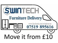 Man and van Swindon furniture delivery from £10 rated 5* CRBd Man and van or two Man and van Swindon