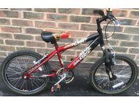 18 inch wheels Raleigh lightweight Mountain Bike ages 6 7 8 9 years Junior kids boys Girls bicycle