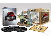 JURASSIC PARK & JURASSIC WORLD Blu Ray Collectors Editions ALL THE MOVIES & more!