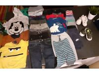 Bundle of boys clothes and shoes 12-18 months / shoes sizes 5 & 6