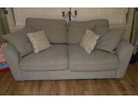 Two 3 seater grey sofas