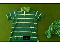Mens maine polo shirt. Brand new never worn size M medium. More like L Large fit