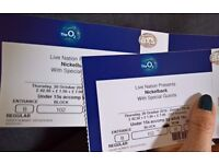 Nickelback concert tickets for TONIGHT at the O2!