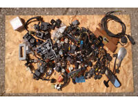 JOB LOT OF CAR PARTS: VINTAGE SWITCHES, ELECTRICALS AND OTHER BITS N' PEICES