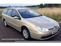 IMMACULATE 2005 Citroen C5 2.2 Hdi EXCLUSIVE estate 118k 12 mths mot 12 mths warr LOVELY BIG CAR !!