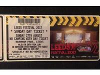 Leeds Festival Sunday Ticket 2017