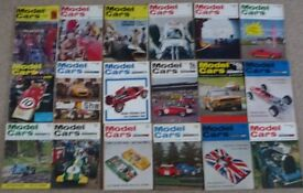 NOSTALGIC AND VINTAGE COLLECTABLE 'MODEL CARS' MAGAZINES (18 various copies - Jan 1968 – Sept 1969)