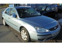 FORD MONDEO 1798cc LX 5 DOOR HATCH 2005-54 FINISHED IN A LIGHT METALIC BLUE, PART SERVICE HISTORY