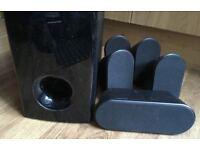 Samsung PS-WQ20 Hi-Fi Home Surround Sound Satellite 5.1 Speakers black