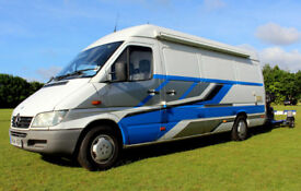 Mercedes 308 LWB (Hi top) with Basic camper conversion. Ideal for Biker / Quadbike enthusiast