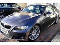BMW 320D M-SPORT 2Dr Coupe **Full Black Leather** + **3D SatNav** + Extras...