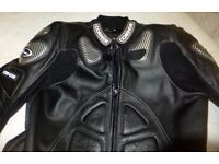 Motorbike leather one piece suit