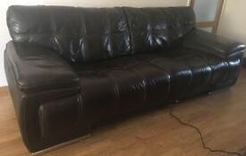 Leather Bergamo sofa