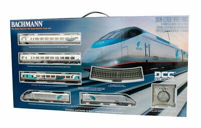 Bachmann HO Amtrak Acela Express Train Set 01205 NIB Bachman HO NEW
