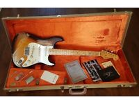 Fender Dale Wilson 2012 Masterbuilt Heavy Relic '55 Stratocaster 2 Colour Sunburst - As new