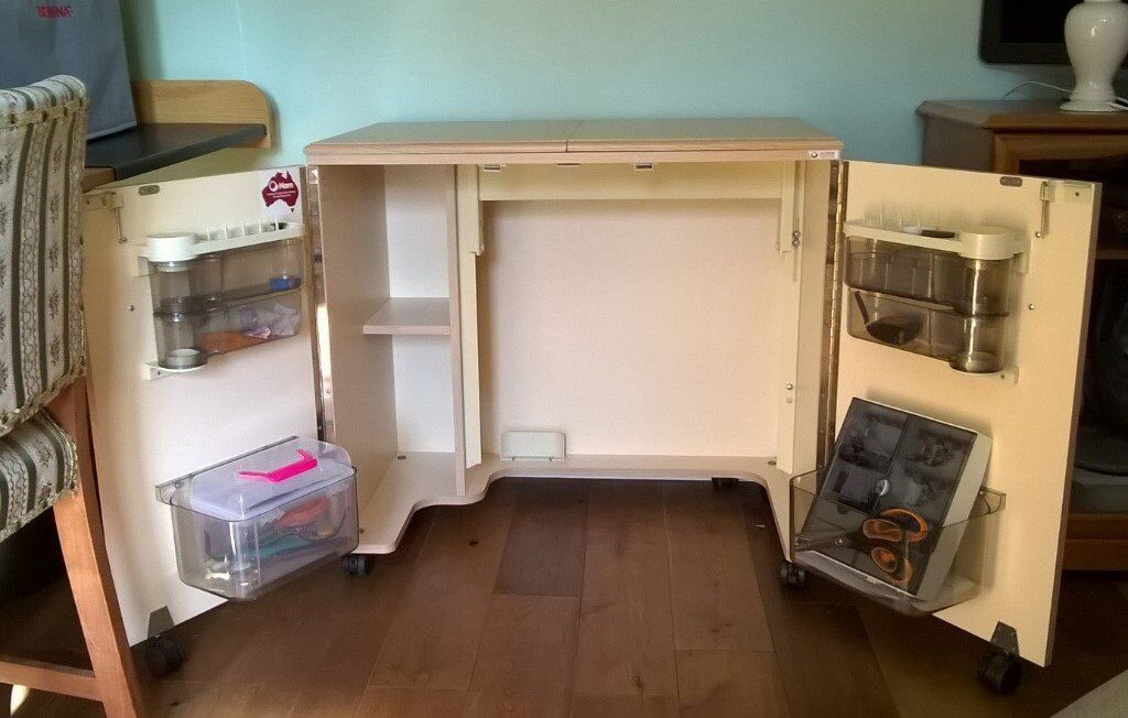 Horn Outback Sewing Cabinet Table with Air Lift and fold out ...