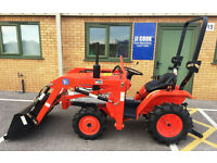 KUBOTA COMPACT TRACTOR LOADER, ideal for grass flail mower or tipping trailer