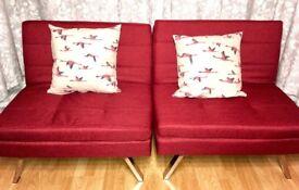 Hygena Duo 2 Seater Clic Clac Sofa Bed