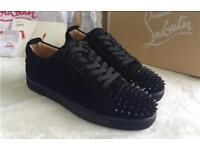 Men's all black Christian laboutin trainers