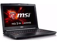 FULLY BOXED MSI GAMING LAPTOP 3GB GDDR5 NVIDIA GTX 970M 8GB DDR4 RAM QUAD CORE I7-6700HQ