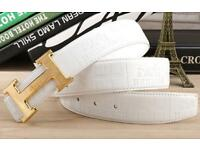 Hermes white and gold buckle belt brand new