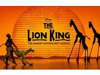5x Lion king tickets for banks holiday, 7:30pm Friday 14th . Good seats in stalls