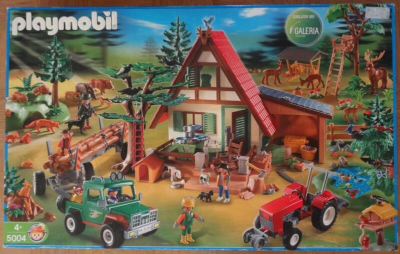 playmobil forsthaus megaset 5004 in aachen eilendorf playmobil g nstig kaufen gebraucht. Black Bedroom Furniture Sets. Home Design Ideas