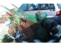 Two Trusty Tractors with lots of implements and very rare seat