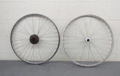 "Vintage 7-Speed 36-Spoke 26"" Mountain Bike Wheelset w/Araya Rims & KK 88 Hubs"