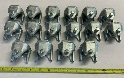 16 Qty. Of Bridgeport 953 Size 2 Insulator Support I-beam Clamp Malleable Iron