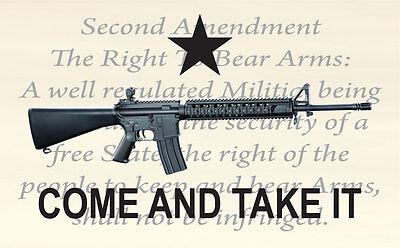 Come And Take It 2nd Amendment Custom Flag 3x5