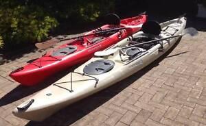 Kayaks (pair) Wilderness Tarpon 140 and Tarpon 160 Seaford Morphett Vale Area Preview