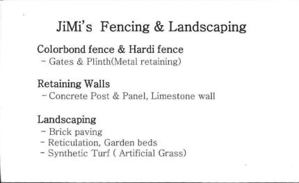 JiMis Fencing and Landscaping