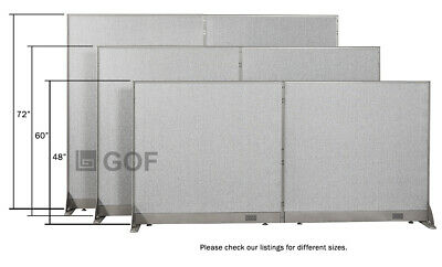 Gof Office Freestanding Partition Panel 30w X 48h 30w X 60h 30w X 72h