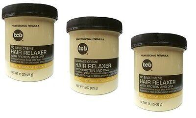 Base Creme Hair Relaxer (3x TCB Relaxer / Glättungscreme No Base Creme Hair Relaxer MILD 425g)