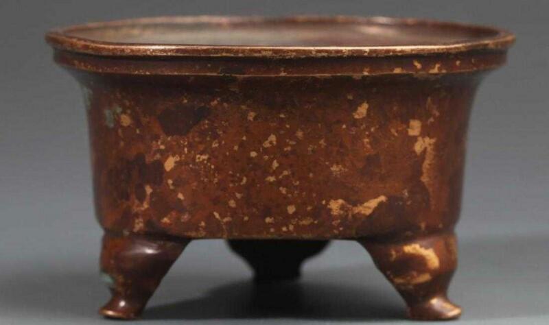 Fine Chinese Tripod Bronze Censer; 19th C.