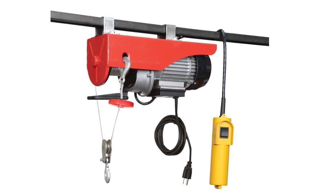 Overhead Electric Cable : Lb electric overhead home shop garage hoist with