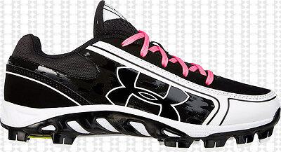 UA Spine Glyde TPU CC, WOMENS Softball Fastpitch Cleats Shoes, 1250084-011