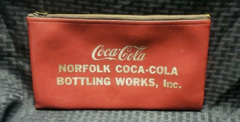 Rare Norfolk Coca Cola Bottling Works Money Bag