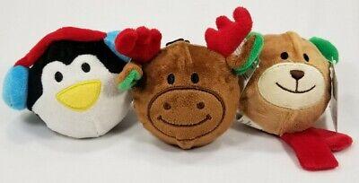Polar Bear Buddies Bear, Reindeer, Penguin Squeaky ball dog toy squeaker toys B3