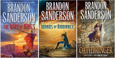 Brandon Sanderson STORMLIGHT ARCHIVE Fantasy Series HARDCOVER Collection 1-3