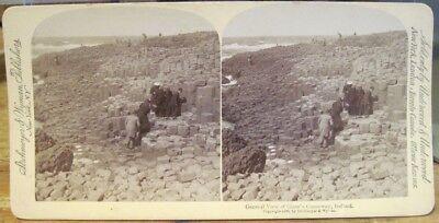 Vtg Stereoview Giants Causeway 1896 Northern Ireland Strohmeyer Underwood U U