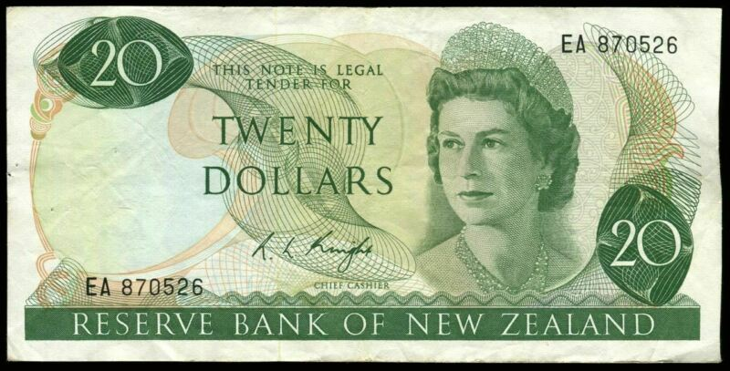 New Zealand - $20 - Knight - EA870526 - Fine