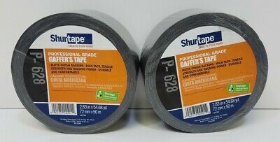 Lot Of 2 Shurtape Professional Grade Gaffers Tape P-628 2.83 In X 54.68 Yd New
