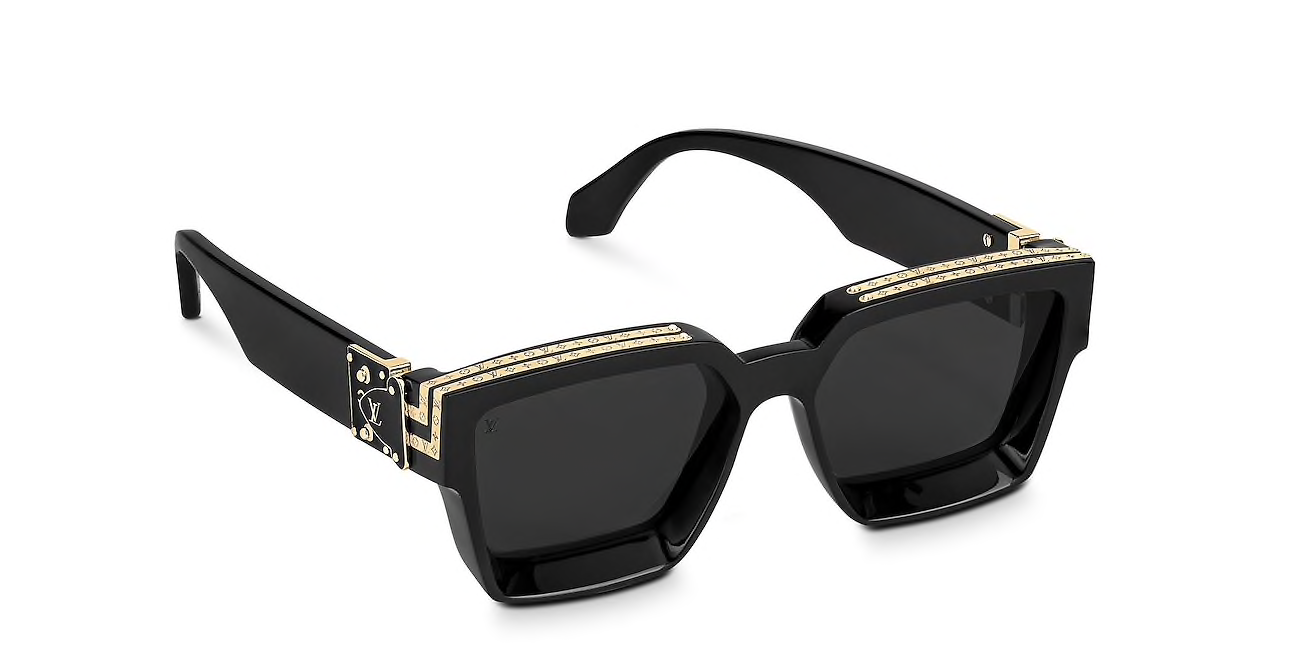 9905cdd92df5 Details about Louis Vuitton Sunglasses Millionaires 1.1 Black by Virgil  Abloh Brand New Z1165W