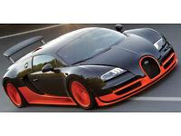 1//10 RC Car Lexan Body Clear Body Shell Bugatti Veyron fit Tamiya Chassis